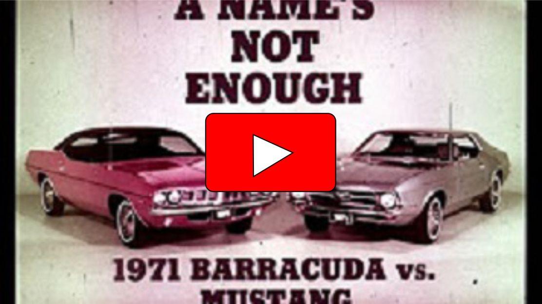 1971 Cuda Vs Mustang