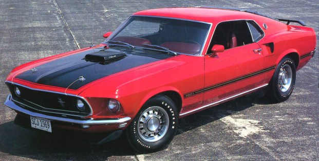 1969 FORD MUSTANG MACH 1 Red