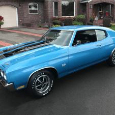 A Blue 1970 Chevrolet Chevelle LS6