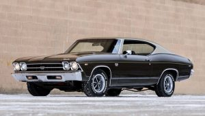 A Black 1969 Chevelle SS 396 - Front Left Side