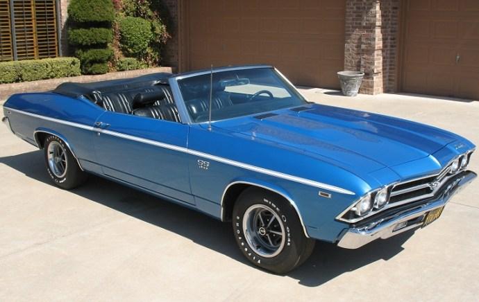 Blue 1969 Chevelle SS 396 Convertible