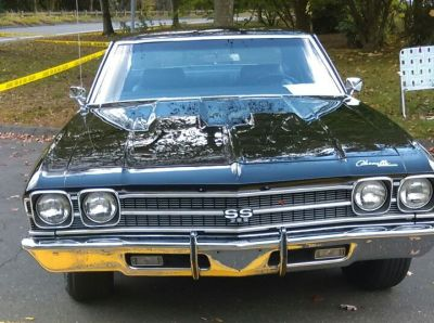 A Black 1969 Chevelle SS 396 Front