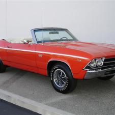 A Red 1969 Chevelle SS 396 convertible