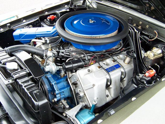 11969 Ford Mustang Boss 429 V8 Engine