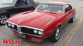 Red 1968 Pontiac Firebird Front