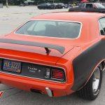 Red 1971 Plymouth Cuda 383 Rear