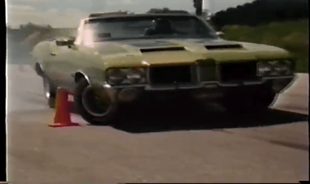 1971 Oldsmobile 442 Convertible W30 Braking Test