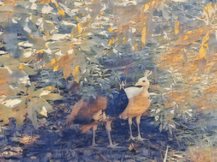 peacock impressionism painting