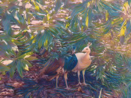 peacock painting Color Fantasy effect