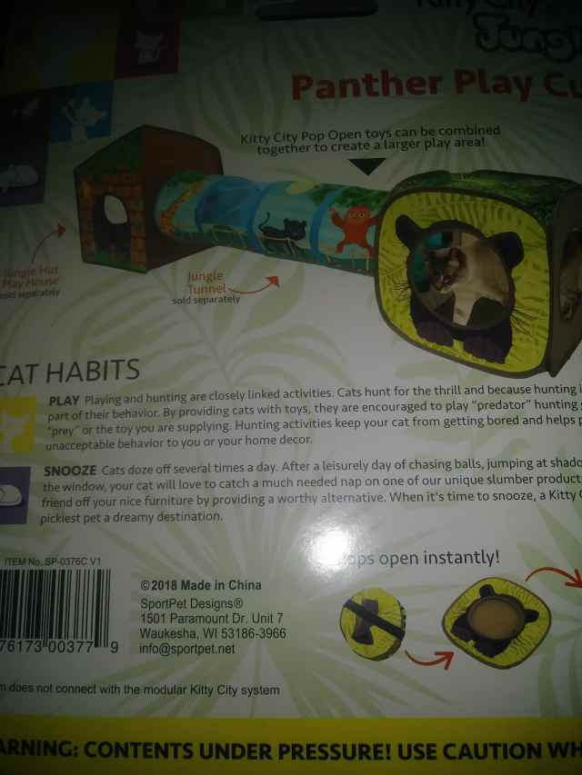 back of box showing other toys added to cube