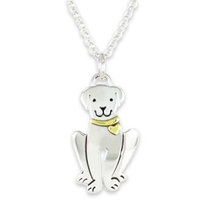 Sterling Silver Happy Dog Necklace