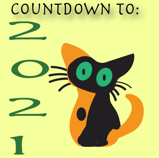 """cat with words """"Countdown to 2021"""""""