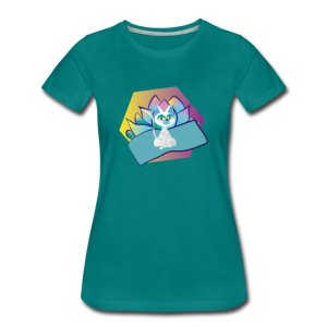 Yoga cat with lotus flower t-shirt