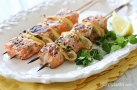Salmon Kebabs | http://www.skinnytaste.com/2013/06/these-lovely-grilled-salmon-and-lemon.html