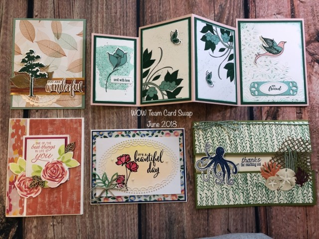 Susan's WOW Team Card Swap, Stampin' Up!, Annual Catalog 2018-2019