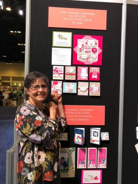 Susan Levasseur, WOW NOLA Creations, Forever Lovely Display Board, Stampin' Up! Onstage, November 2018
