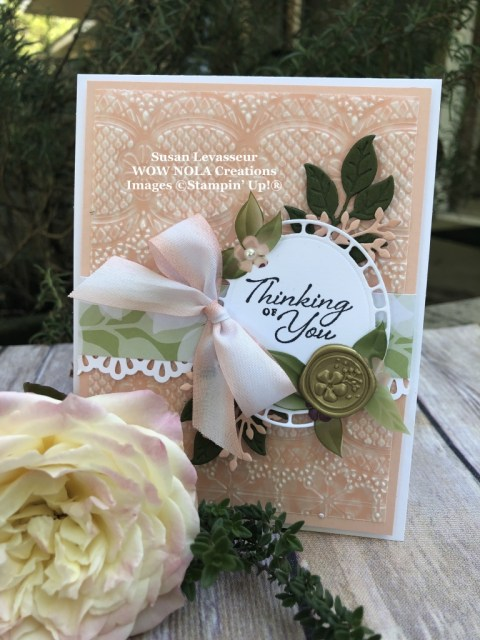 Susan Levasseur, WOW NOLA Creations, Spring Card with Wonderful Romance, Stampin' Up!