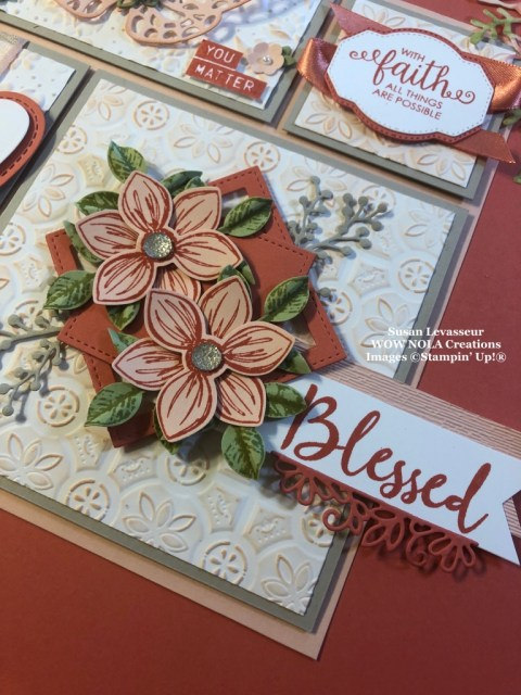 Susan Levasseur, WOW NOLA Creations, Blessed Encouragement Sampler, Stampin' Up!