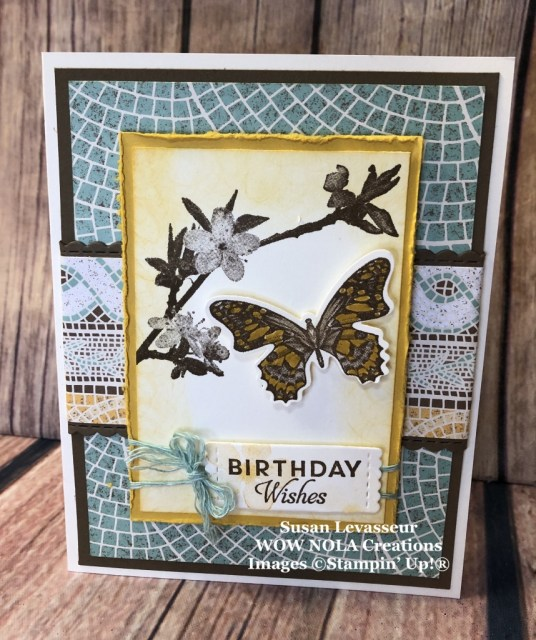 Butterfly Wishes, Susan Levasseur, WOW NOLA Creations, Stampin' Up!