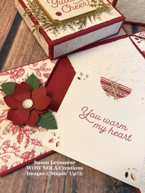 Christmas Explosion Box, Susan Levasseur, WOW NOLA Creations, Stampin' Up!