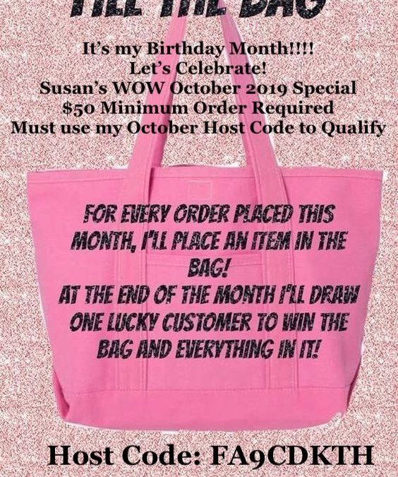 Birthday Month Ordering Giveaway