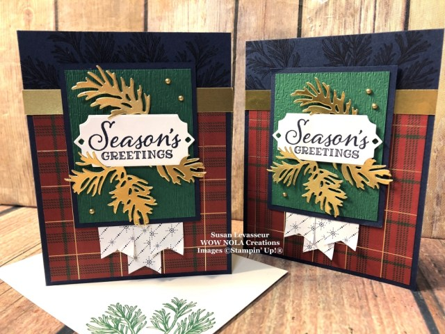 Peaceful Boughs with WOW Card Sketch #2, Susan Levasseur, WOW NOLA Creations, Stampin' Up!