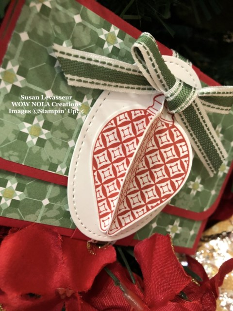 Quick Easy Christmas Gift Card Holder, Susan Levasseur, WOW NOLA Creations, Stampin' Up!