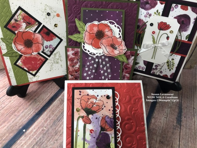 Painted Poppies, WOW Class to GO!, Susan Levasseur, WOW NOLA Creations