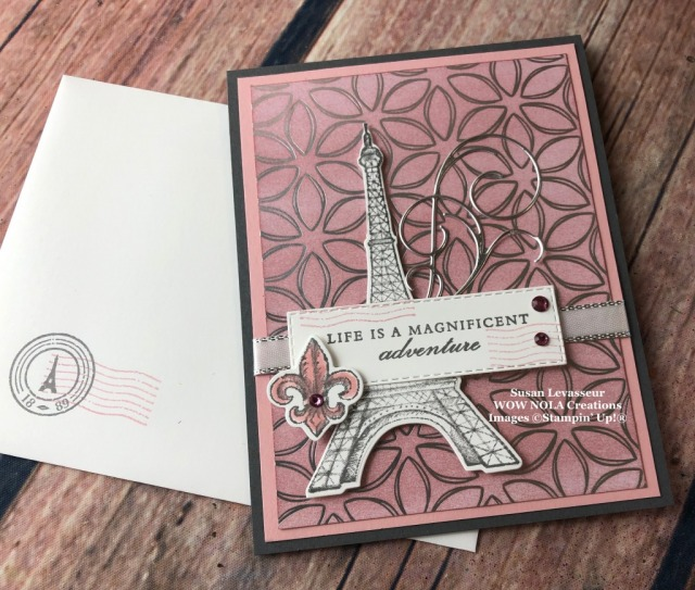 Flowering Foils, Parisian Beauty, New FREE Products, Susan Levasseur, WOW NOLA Creations, Stampin' Up!