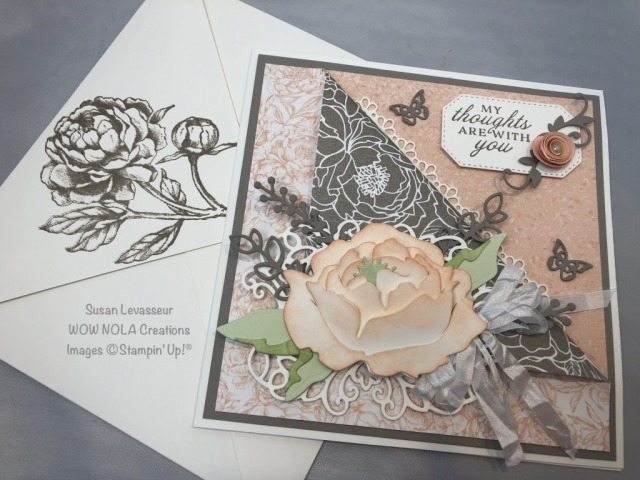 Prized Peony Vintage Luxury Card, Susan Levasseur, WOW NOLA Creations, Susan Levasseur, Stampin' Up!