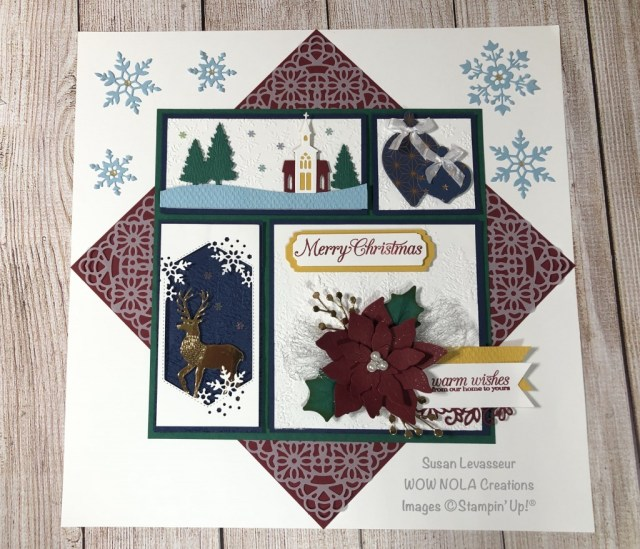 Poinsettia Christmas Sampler, WOW Class to GO!, Susan Levasseur, WOW NOLA Creations