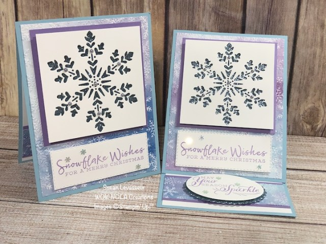 Snowflake Wishes Easel Card, Susan Levasseur, WOW NOLA Creations, Stampin' Up!