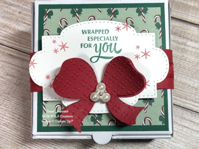 Gift Wrapped Christmas Treat, Susan Levasseur, WOW NOLA Creations, Stampin' Up!