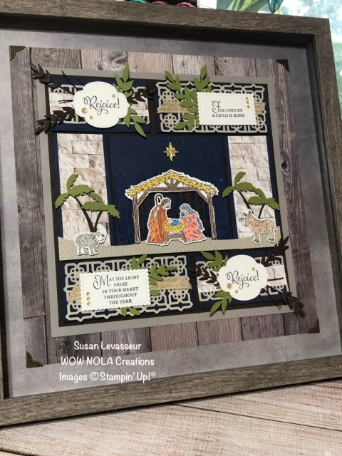 Peaceful Nativity, WOW Class to GO!, Susan Levasseur, WOW NOLA Creations, Stampin' Up!
