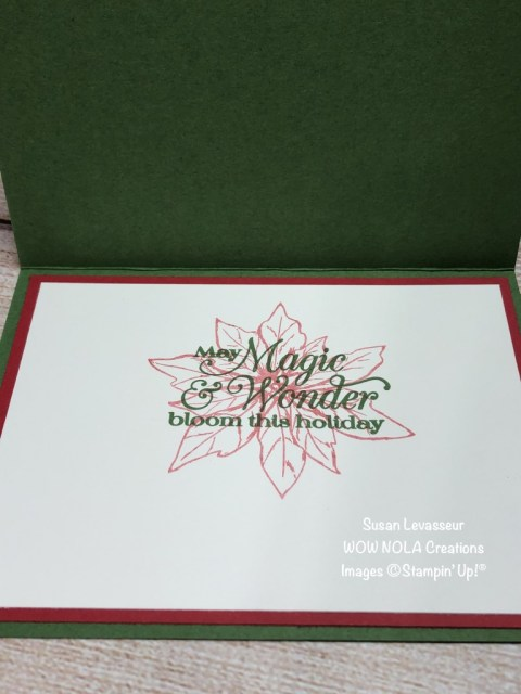 Plush Poinsettia, Susan Levasseur, WOW NOLA Creations, Stampin' Up!