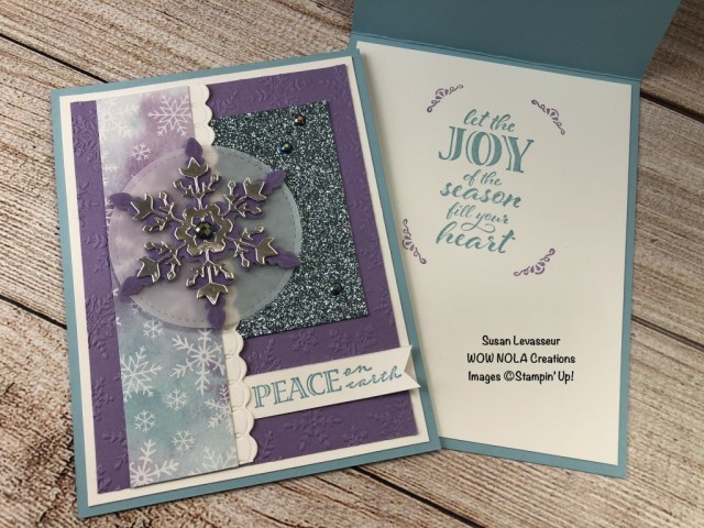 Snowflake Splendor, Susan Levasseur, WOW NOLA Creations, Stampin' Up!