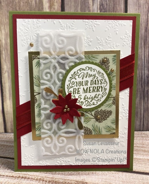 Wrapped in Christmas, Christmas Cards, Susan Levasseur, WOW NOLA Creations, Stampin' Up!