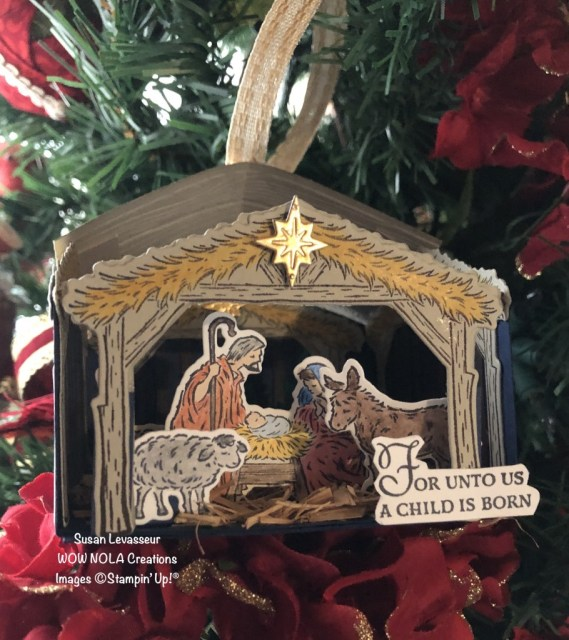 Peaceful Nativity Keepsake Ornament, Susan Levasseur, WOW NOLA Creations, Stampin' Up!