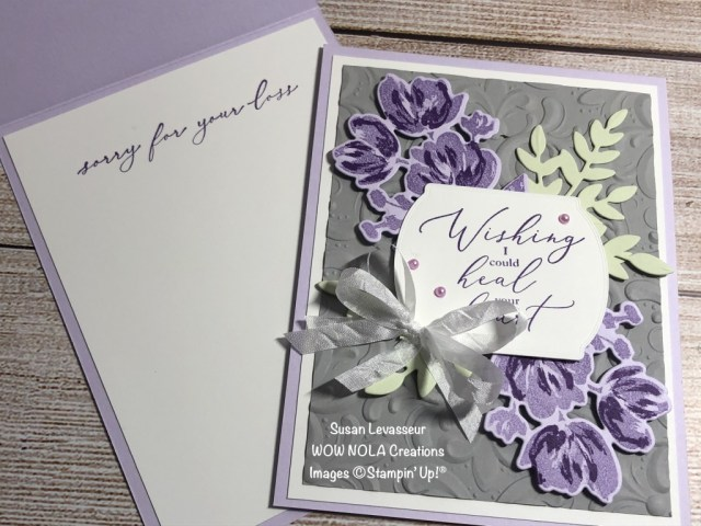 Sympathy Cards with Art Gallery, Susan Levasseur, WOW NOLA Creations, Stampin' Up!