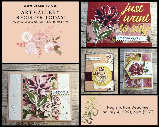 WOW Class to GO!, Art Gallery, January 2021, Susan Levasseur, WOW NOLA Creations, Stampin' Up!