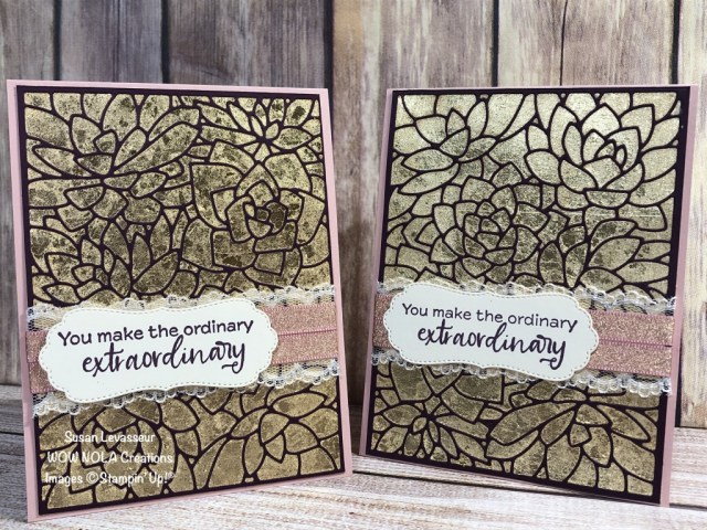 Gilded Leafing Extraordinary Technique, Susan Levasseur, WOW NOLA Creations, Stampin' Up!