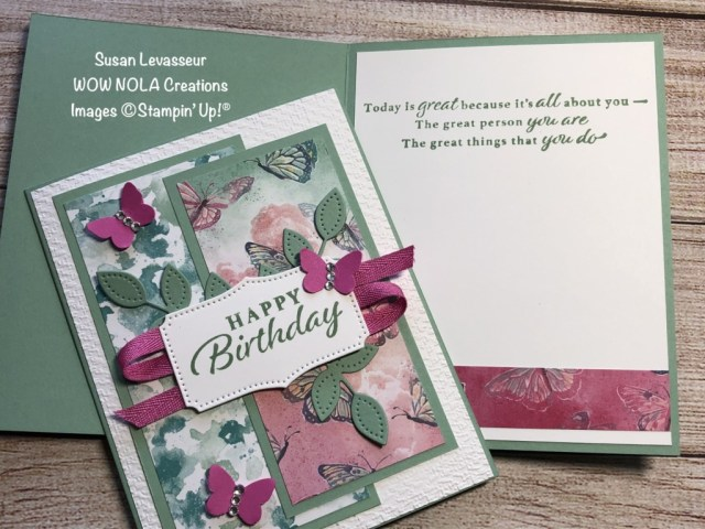 Butterfly Bijou Birthday, Susan Levasseur, WOW NOLA Creations, Stampin' Up!