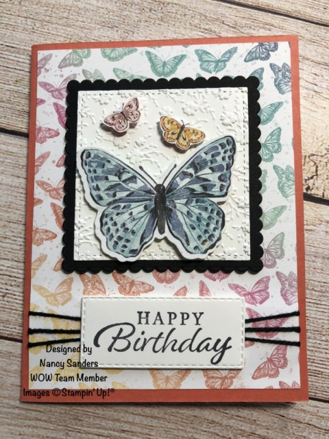 Butterfly Brilliance WOW Team Card Swap, Susan Levasseur, WOW NOLA Creations, Stampin' Up!