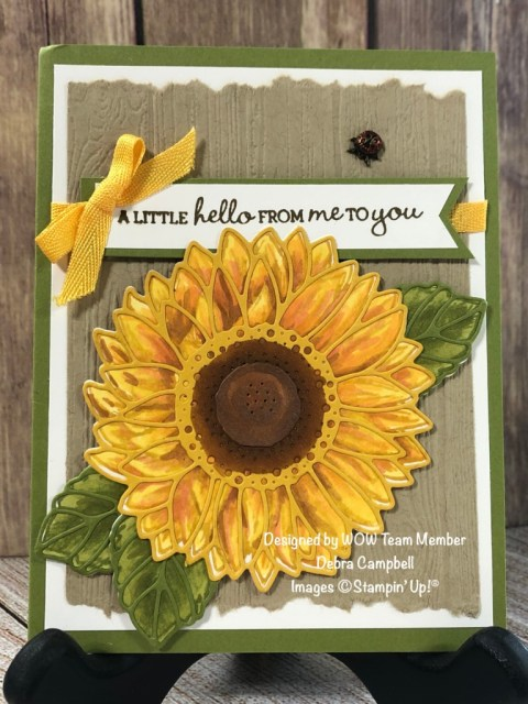 Techniques with Sunflowers, Debra Campbell