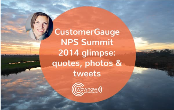 CustomerGauge NPS Summit 2014 glimpse: quotes, photos & tweets
