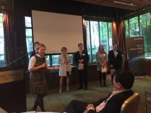 Camilla Scholten, CustomerGauge, thanking all the speakers