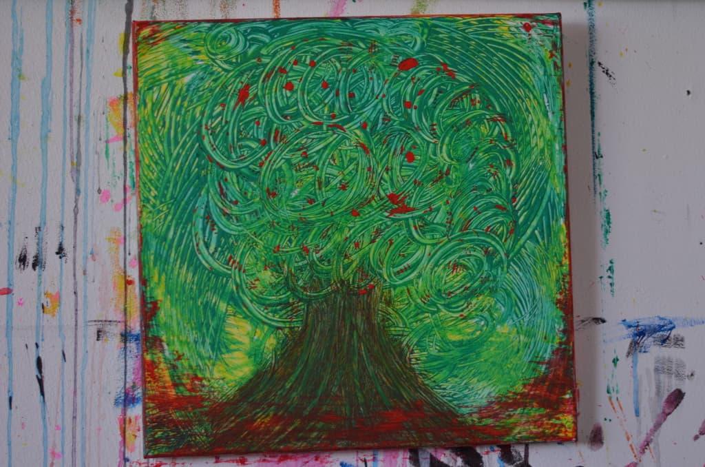 Creativity Volcanic rooted tree