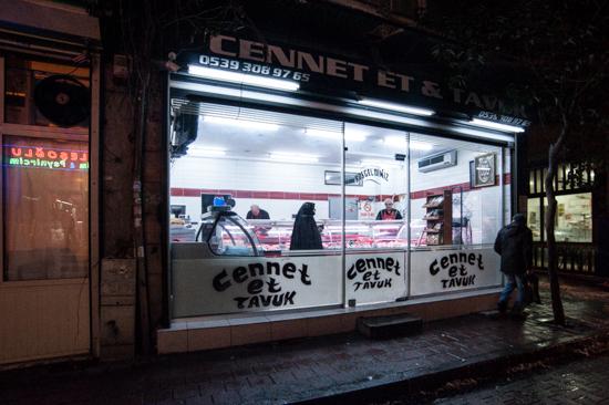 Istanbul, macelleria a Balat