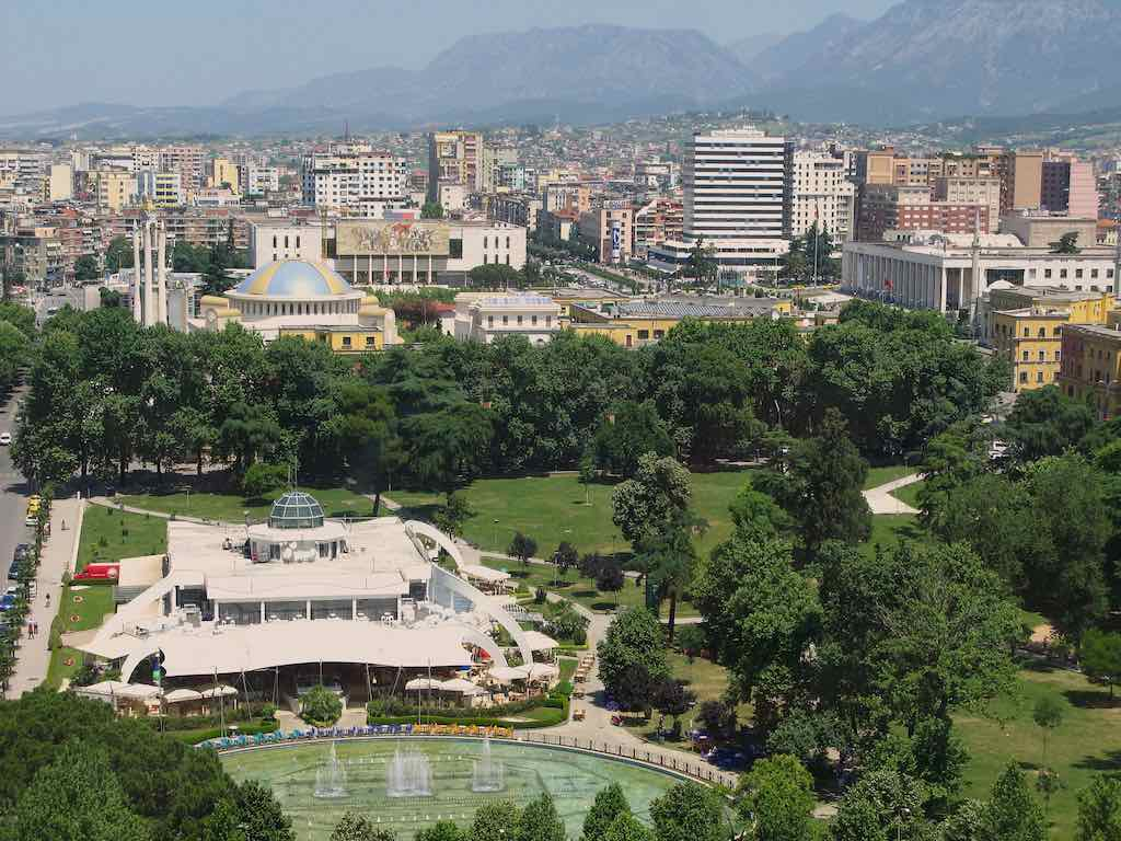 The view from Sky Tower, Tirana