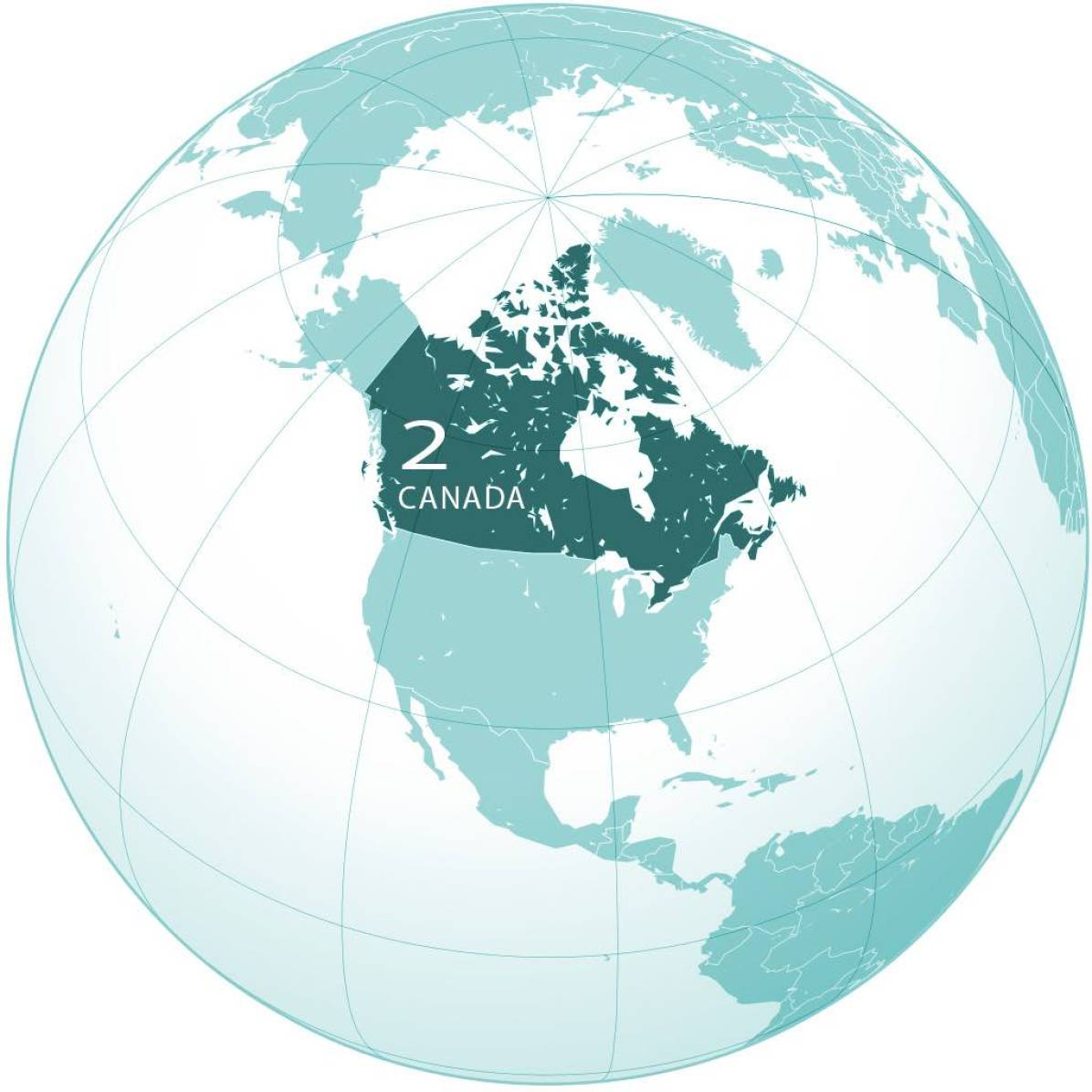 Canada World Map - by Ssolbergj/Wikimedia - created with the Generic Mapping Tools